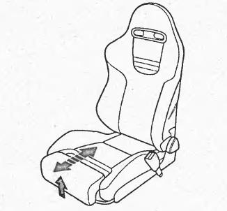 Регулировка длины подушки сиденья водителя honda civic ferio
