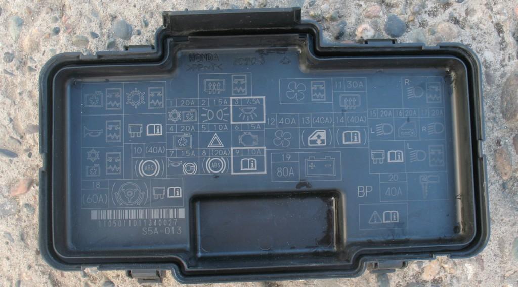 Крышка коробки предохранителей honda civic ferio