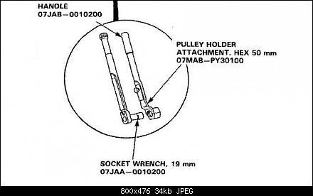 Оригинальный ключ для снятия шкива коленчатого вала