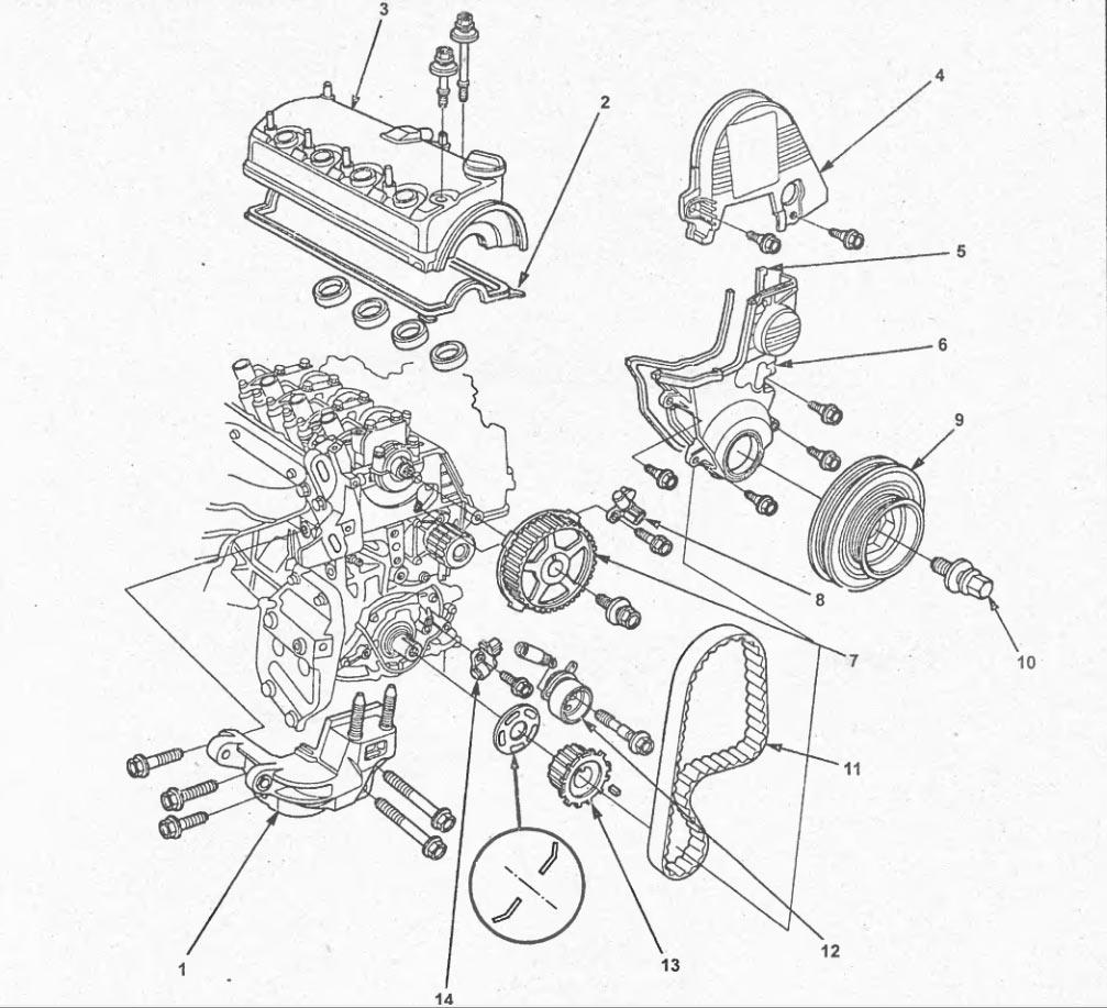 Схема двигателя аккорд 8