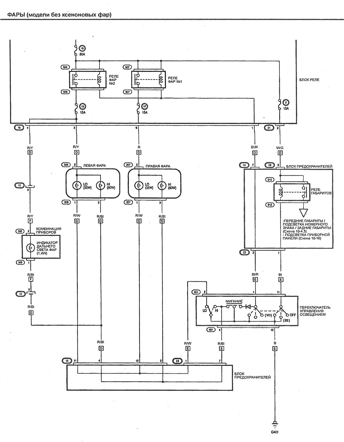 электрическая схема honda civic viii
