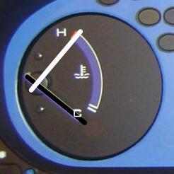 Указатель температуры - перегрев двигателя