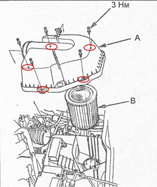 Снятие крышки воздушного фильтра, К20А