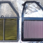 Замена воздушного фильтра двигателя | honda civic ferio | ES1
