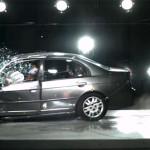 Краш тест Honda Civic Ferio 2005 г.в. со скорости 56,3 км/ч
